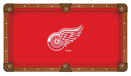 Detroit Red Wings Custom Pool Table Cloth | Man Cave Authority | PTC7DetRed