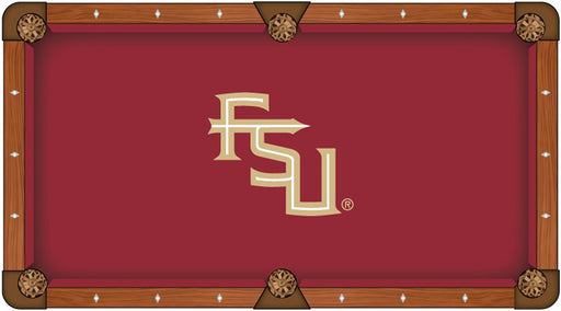 Florida State University Custom Pool Table Cloth | Man Cave Authority | PTC7FSU-FS