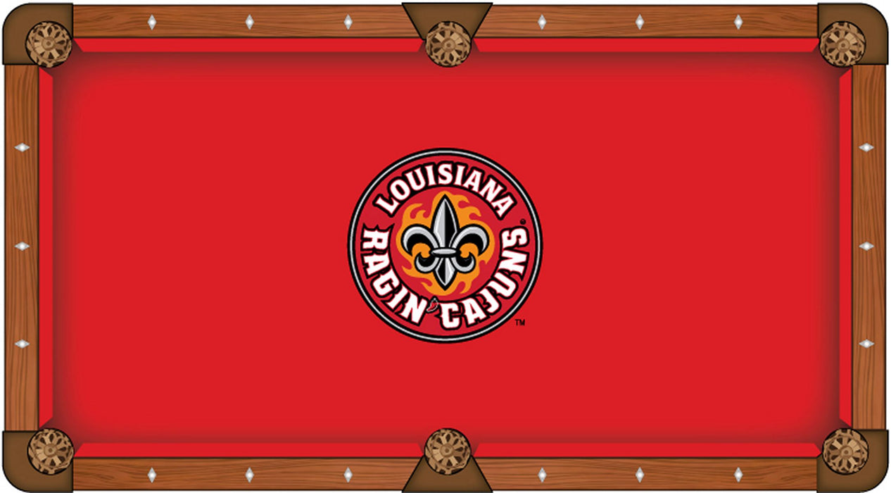 University of Louisiana at Lafayette Custom Pool Table Cloth | Man Cave Authority | PTC7LA-Laf
