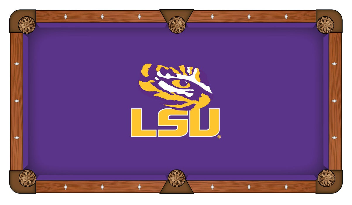 Louisiana State University Custom Pool Table Cloth | Man Cave Authority | PTC7LaStUn