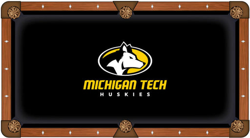 Michigan Tech University Custom Pool Table Cloth | Man Cave Authority | PTC7MITech
