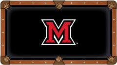 Miami University Custom Pool Table Cloth | Man Cave Authority | PTC7Mia-OH