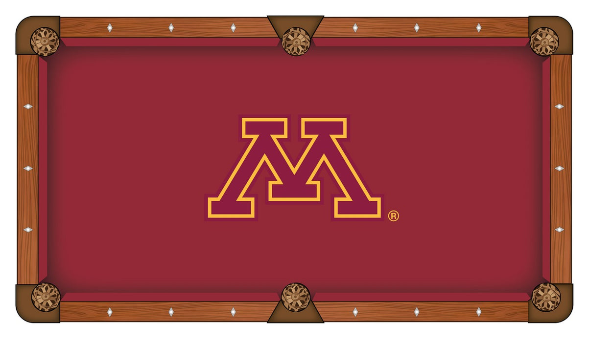 University of Minnesota Custom Pool Table Cloth | Man Cave Authority | PTC7MinnUn