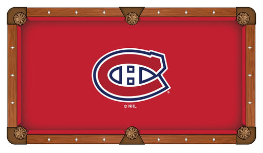 Montreal Canadiens Custom Pool Table Cloth | Man Cave Authority | PTC7MonCan