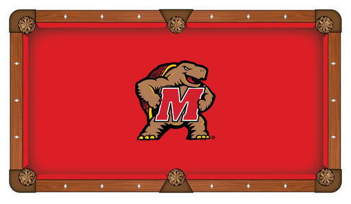 University of Maryland Custom Pool Table Cloth | Man Cave Authority | PTC7Mrylnd