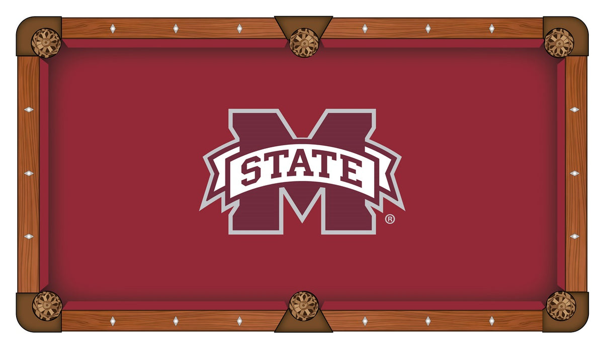 Mississippi State University Custom Pool Table Cloth | Man Cave Authority | PTC7MssStU