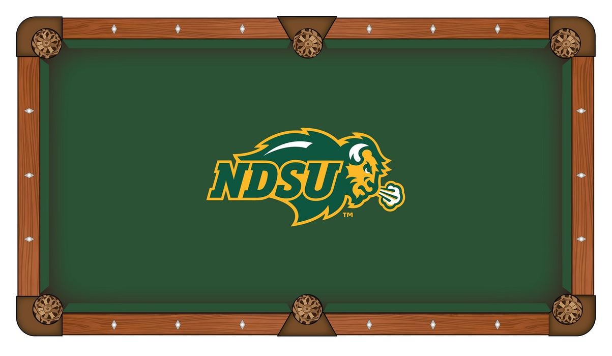 North Dakota State University Custom Pool Table Cloth | Man Cave Authority | PTC7NDakSt