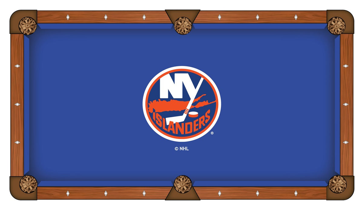 New York Islanders Custom Pool Table Cloth | Man Cave Authority | PTC7NYIsln