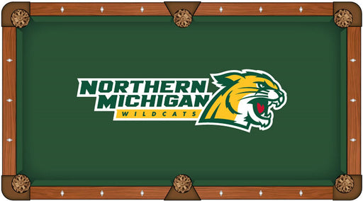 Northern Michigan University Custom Pool Table Cloth | Man Cave Authority | PTC7NorMic