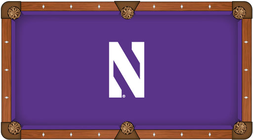 Northwestern University Custom Pool Table Cloth | Man Cave Authority | PTC7Nthwst