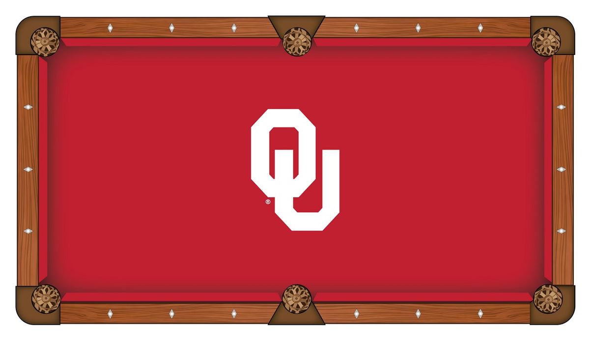 Oklahoma University Custom Pool Table Cloth | Man Cave Authority | PTC7Oklhma