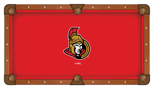 Ottawa Senators Custom Pool Table Cloth | Man Cave Authority | PTC7OttSen