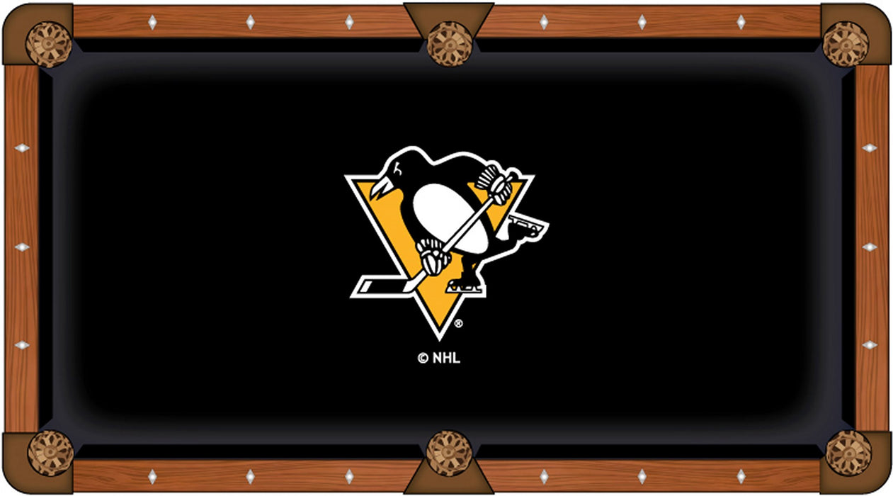 Pittsburgh Penguins Custom Pool Table Cloth | Man Cave Authority | PTC7PitPen