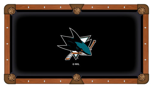 San Jose Sharks Custom Pool Table Cloth | Man Cave Authority | PTC7SJShar