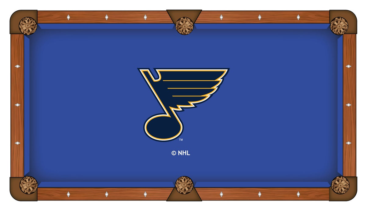 St Louis Blues Custom Pool Table Cloth | Man Cave Authority | PTC7STLBlu