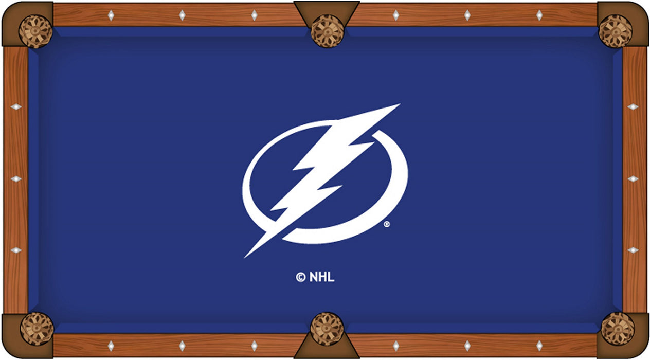Tampa Bay Lightning Custom Pool Table Cloth | Man Cave Authority | PTC7TBLght