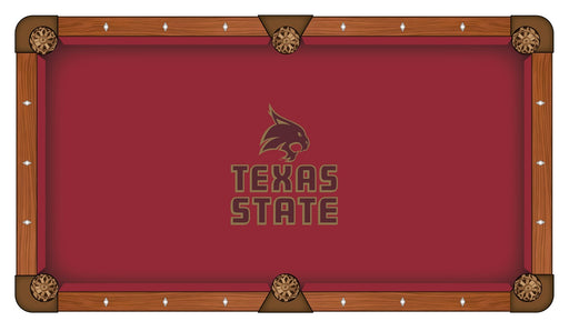 Texas State University Custom Pool Table Cloth | Man Cave Authority | PTC7TexsSt