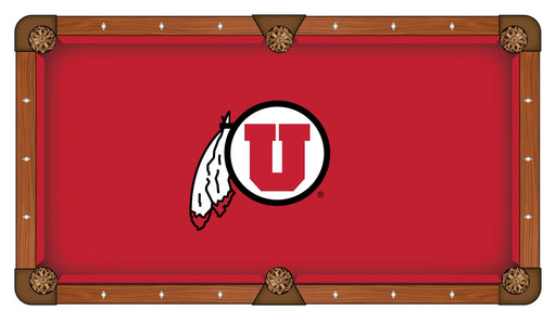 University of Utah Custom Pool Table Cloth | Man Cave Authority | PTC7UtahUn