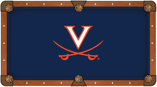 University of Virginia Custom Pool Table Cloth | Man Cave Authority | PTC7Vrgnia