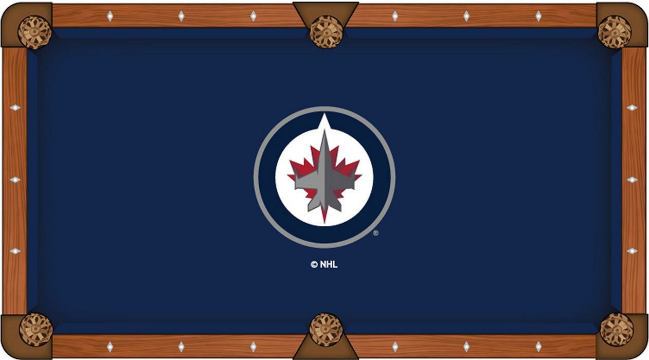 Winnipeg Jets Pool Table Cloth Billiard Felt By Hainsworth Man - Custom logo pool table felt