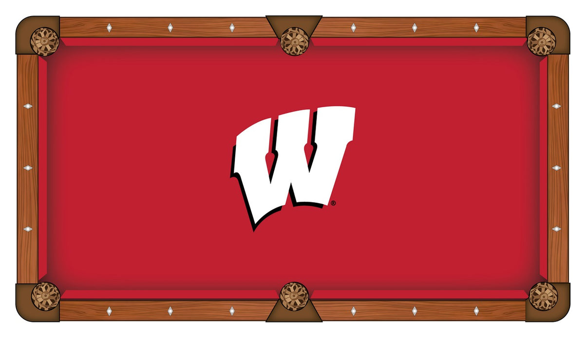 University of Wisconsin Custom Pool Table Cloth | Man Cave Authority | PTC7Wisc-W