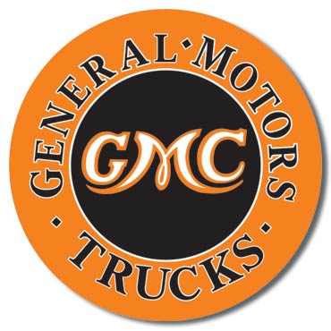 GMC Trucks - Round Tin Sign | Man Cave Authority | 1012