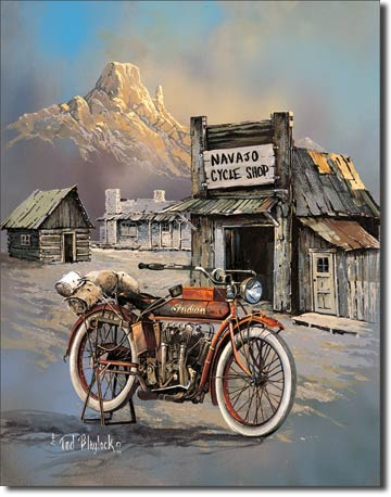 "Blaylock ""Apache High Speed"" Tin Sign 