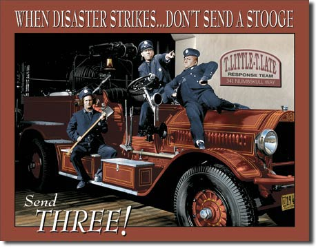 Stooges Fire Department Tin Sign | Man Cave Authority | 1081