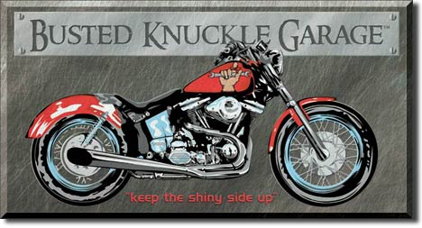 Busted Knuckle Garage Tin Sign | Man Cave Authority | 1165