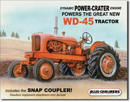 Allis Chalmers WD45 Tin Sign | Man Cave Authority | 1167