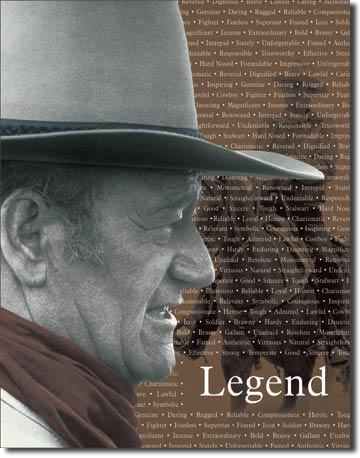 John Wayne Legend Tin Sign | Man Cave Authority | 1185