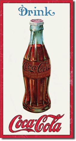 Coke 1915 Bottle Tin Sign | Man Cave Authority | 1210