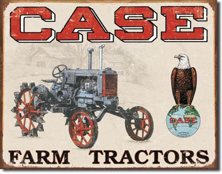 Case Tractor CC High Tin Sign | Man Cave Authority | 1230
