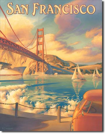 "Erickson ""Golden Gate"" Tin Sign 