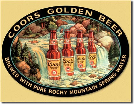 Coors Waterfall Tin Sign | Man Cave Authority | 1311