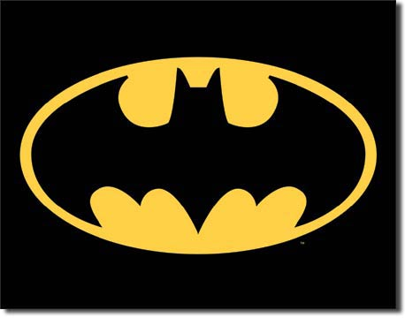 Batman Logo Tin Sign | Man Cave Authority | 1334