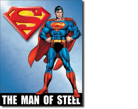 "Superman ""Man of Steel"" Tin Sign 
