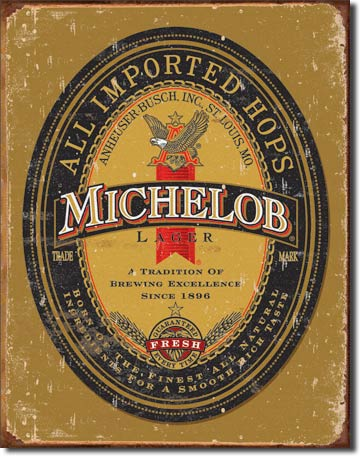 Michelob Logo Tin Sign | Man Cave Authority | 1392