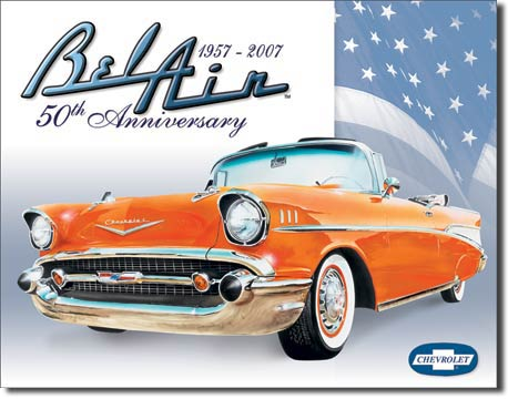 Bel Air 50th Anniversary Tin Sign | Man Cave Authority | 1395
