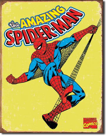 Spiderman Retro Tin Sign | Man Cave Authority | 1437