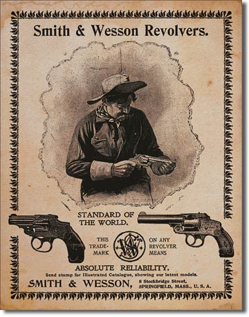 Smith & Wesson Standard of the World Tin Sign | Man Cave Authority | 1464