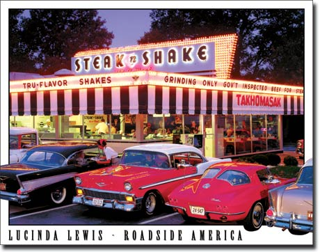 Steak n Shake Tin Sign | Man Cave Authority | 1478