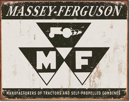 Massey Ferguson Logo Tin Sign | Man Cave Authority | 1504