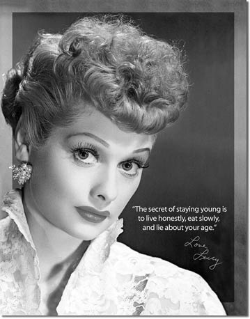 "Lucy ""Staying Young"" Tin Sign 