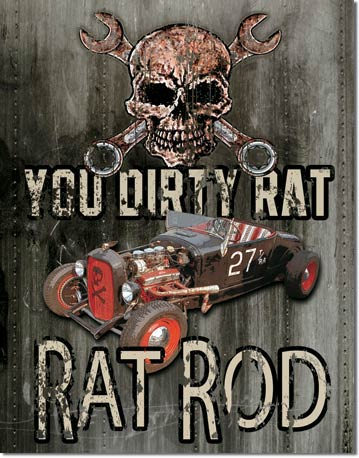 Legends Dirty Rat Tin Sign | Man Cave Authority | 1538