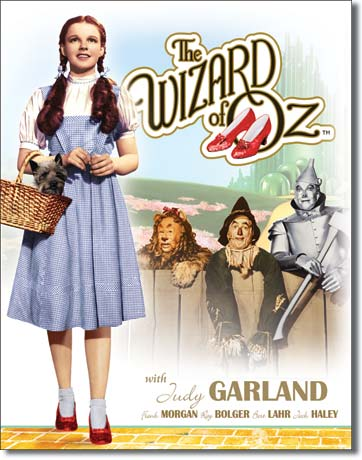 Wizard of Oz Dorothy w/ Toto Tin Sign | Man Cave Authority | 1560