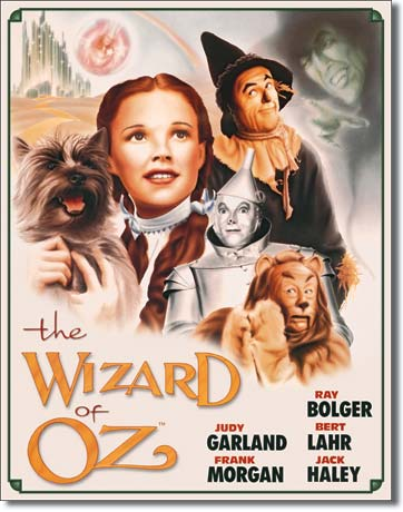 Wizard of Oz Poster Tin Sign | Man Cave Authority | 1563