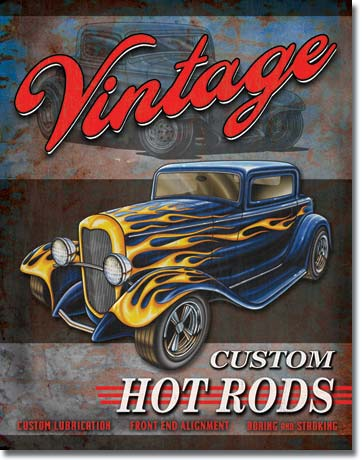 Legends Vintage Hot Rods Tin Sign | Man Cave Authority | 1567