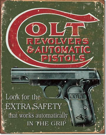 Colt Extra Safety Tin Sign | Man Cave Authority | 1592