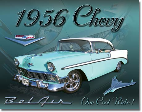 Chevy 1956 Bel Air Tin Sign | Man Cave Authority | 1607